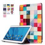 ショッピング docomo dtab d-01H / Huawei MediaPad M2 10専用保護ケース 彩色上絵 マグネット式 オートスリップ 高級PUレザーケース (スクエア)