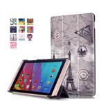 ショッピング docomo dtab Compact d-02h / Huawei MediaPad M2 8専用保護ケース 彩色上絵 オートスリップ 高級PUレザーケース(タワー)