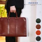 ビジネスバッグ ブリーフケース メンズ INDEED(インディード)BORSA(ボルサ) ビジネスバック 通勤 本革 牛革 A4 ヨコ型 薄マチ 三方開き 日本製 ブランド