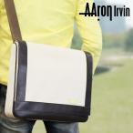 ショッピングショルダーバッグ ショルダーバッグ メンズ 斜めがけバッグ Aaron Irvin(アーロン・アーヴィン)Canvas(キャンバス)革付属コンビ 帆布 A4未満 横型 かぶせ蓋 軽量