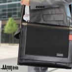 ショッピングショルダーバッグ ショルダーバッグ 斜めがけバッグ Aaron Irvin(アーロン・アーヴィン)Microfiber Business(マイクロファイバービジネス)革付属コンビ A4 横型 かぶせ蓋 軽量