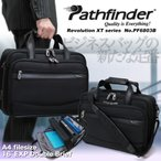 ビジネスバッグ ブリーフケース Pathfinder(パスファインダー)Revolution XT(レボリューションXT)通勤 2WAY 2ルーム A4 ヨコ型 PC対応 ショルダー付 マチ拡張