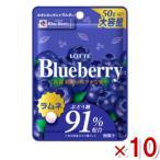 ロッテ 50g ブルーベリーラムネ 10入 (ポイント消化)(np) メール便全国送料無料