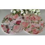鍋敷き ローズ 鍋しき 壁掛け 薔薇雑貨 おしゃれ メラミン バラ キッチン雑貨 料理 花柄 かわいい rose おしゃれ
