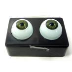 【人形の目 ビスクドール】 ビスクアイ グラスチック 淡緑8mm 白目部分含む UV ※人形の目