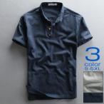 プルオーバーシャツ 白シャツ リネン メンズ 半袖 無地 綿麻 コットン ヘンリーネック カジュアル カットソー 夏 サマー