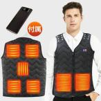 電熱ベスト 電熱ジャケット 3段階調温 洗える 日本製繊維ヒーター ヒーターベスト 電熱ウェア 発熱 ヒーターベスト USB給電 男女兼用(B1MJ7QHeM)