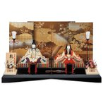 雛人形 一秀 江戸木目込み人形 親王 平飾り 幅65cm  i-31-h82