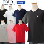 ポロ ラルフローレン Tシャツ メンズ レディース 半袖 ブランド POLO Ralph Lauren ボーイズサイズ Vネック 綿100% 無地 激安 ロゴ 新品 #323674983