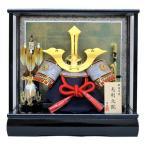 12号毛利兜ケース飾りYN50123GKC 五月人形ケース(木製弓太刀付) 五月人形 兜飾り 鎧飾り ケース入り 毛利元就 三本の矢  kabuto-49