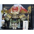 京寿 五月人形 兜飾り  12号シルバー徳川兜ケース飾り YN32233GKC 徳川家康 kabuto-49
