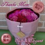 ショッピング母の日 母の日のプレゼントはやっぱりカーネーション:特選ミックス系のカーネーションの花束 シック&エレガントmix