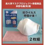 マスク 洗える 高機能 夏用 涼しい 呼吸が楽 立体 日本製 2枚セット 3D 抗ウイルス 泉大津 感染症対策 ホワイト 正規品 在庫あり 当日発送