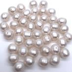淡水パール ポテト パーツ 素材 ビーズ 真珠 ホワイト 中粒 1粒 7~8mm ※傷があります