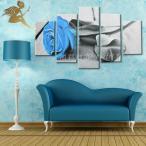 絵画 壁掛け 油彩 油絵 風景 花 モダン アートパネル インテリア 手書きの油彩画 5枚セット ブルーローズ
