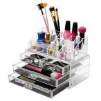 化粧収納ボックス メイクケース コスメ収納スタンド 引き出し小物/化粧品入れ (透明色)55