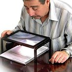 Yahoo!うめのやonline[YS]大型B5サイズ テーブルルーペ 6倍 LEDライト 拡大鏡 虫眼鏡 MI-TLOUPE[メール便発送、送料無料、代引不可]