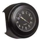 バイク用 アナログ時計 ブラック 簡単取り付け デザイン型 カスタマイズ BIC-X-BK  .