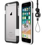 WOEXET  iPhone 6 iphone 6s用バンパーとストラップセット ストラップ付きケース カラビナ 落下防止 モバイル 携帯ストラップ ネックストラップ スマホ用ストラップ ブラック