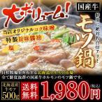 お試し もつ鍋 モツ鍋 取り寄せ 2-3人前 セット 北海道産 ホルモン 500g 送料無料 国産牛 ホルモン