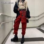 レディース カーゴパンツ ロングパンツ ウエストゴム ボトムス ダンス 衣装 ヒップホップ コスチューム 原宿系