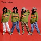 キッズ ダンス衣装 ヒップホップ   HIPHOP ライドグリーン ダンスシャツ パンツ 子供 男の子 女の子 練習着 ジャズダンス