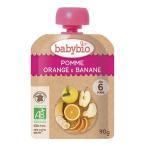 有機ベビースムージー(アップル・オレンジ・バナナ)baby bio(ベビー ビオ) 90g 5個までコンパクト便可有機JAS(無農薬・無添加)