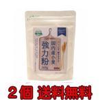 無添加 国内産小麦 強力粉 【 300g×2個 ネコポス便・送料無料】国産100%