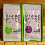 ショッピングお中元 煎茶詰め合わせ 有機JAS 無農薬・無添加 初芽・八十八夜 ギフトセット各100g