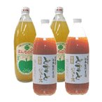 無農薬ジュースセット・若葉農園リンゴジュース(大)2本・江本自然農園トマトジュース(大)2本の4本セット
