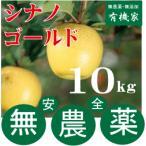 無農薬栽培・青森県「若葉りんご園」の「シナノゴールド」10kg(土壌消毒・除草剤・化学農薬・化学肥料不使用)