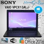 Windows 10 Home B5型ノートパソコン SONY VAIO VPCX13AKJ Intel インテル Atom 128GB 無線LAN Kingsoft Office2016搭載
