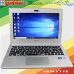中古ノートパソコン 11.6型 SONY Vaio SVT1111AJ インテル Core i5-3317U プロセッサー @ 1.70 GHz HDD 500GB メモリ 4GB Windows 10 Home WEBカメラ Bluetooth