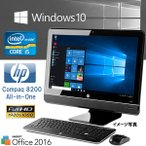 ��Ű��η� Windows 10 �ե�HD 23�� HP Compaq 8200 Elite All-In-One Core i5 2450M-2.50GHz 4GB 250GB DVD ����� ̵��LAN WPS-Office2016