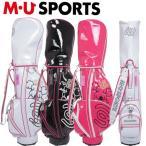 日本正規品 MU SPORTS MUスポーツ 703V3900 レディース エナメル ゴルフバック 8.5インチ