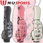 M・U SPORTS MUスポーツ 703U6110 ミュージック柄 キャディバッグ レギュラーソール 8.5型