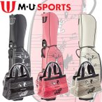 M・U SPORTS MUスポーツ  ミュージック柄 キャディバッグ + ボストンバック セット販売 【703U6110】 【703U6210】