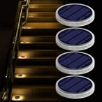 ソーラーライト 埋め込み式 屋外 ガーデンライト led ソーラーパネル 庭園灯 ソーラーグラウンドライト 自動点灯/消灯 太陽光パネル充電 取付簡単