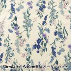 【数量5から】生地 『綿麻シーチング ボタニカル柄 YUZ-797-2』 YUWA 有輪商店