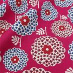 Yahoo!ユザワヤ【生地セール】 【数量5から】 生地 『北欧風綿麻キャンバス花柄/6794-C4 (C4A)赤』