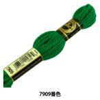 刺しゅう糸 『DMC 4番刺繍糸 タペストリーウール グリーン系 7909』 DMC ディーエムシー