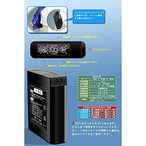 空調服 ポリエステル製フルハーネス仕様 リチウムバッテリーセット BP-500FHC06S7 シルバー 5L ds-1674532