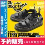 (予約販売) ドクターマーチン サンダル メンズ レディース TERRY 23521001 テリー 厚底 黒 DR.MARTENS グラディエーター 本革 定番