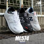 (SALE価格) ニューバランス スニーカー メンズ ML574 NEW BALANCE ブラック 黒 ホワイト 白 シューズ ブランド カジュアル ローカット 父の日