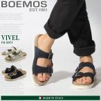 (期間限定ポイント15倍) ボエモス BOEMOS ビベル レザー コンフォート サンダル  メンズ レディース