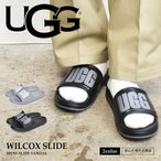 アグ サンダル メンズ ウィルコックス スライド UGG 1108042 ブラック 黒 グレー オフィス ぺたんこ 室内履き 社内履き 海