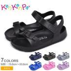 ケンケンパ サンダル キッズ ジュニア 子供 ベルトサンダル KenKenPa KP-035 KP-036 ブラック 黒 ネイビー シューズ スポーツ 靴