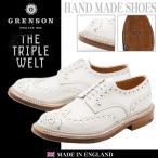 グレンソン GRENSON レザーシューズ アーチー トリプルウェルト ウィングチップ メンズ 革靴