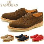 サンダース SANDERS 革靴 メンズ ウイングチップ シューズ スエード