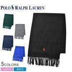 ポロ ラルフローレン マフラー ワンポイント POLO RALPH LAUREN PC0476 ブラック 黒 ブランド ストール 刺繍 防寒